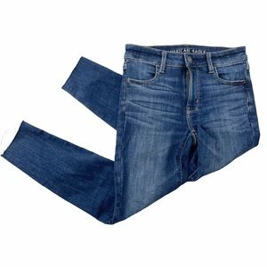 American Eagle High Rise Jegging Crop Jeans sz 2